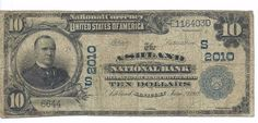 1902 ASHLAND, KY National Bank $10 National Note; Plain Back; CH# 2010