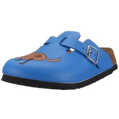 Birkis Woodby Clogs Birko-Flor, Dog Blue Background, With A Narrow Insole Birki's. $51.64.  ArticleNr.  114533 Size: 180mm = 28.0  clogs narrow for slim feet Narrowe  Model: Woodby  Manufacturer: Birkis  Schnallenart: buckle  color: Dog  Blue Background Material: Birko-Flor  Footbed: Natural Cork /  leather sole: EVA. Even with healthy foot sandals, it depends on the optimal fit, therefore, the original Birkenstock Footbed made ??in two widths. Please be careful when buying your...