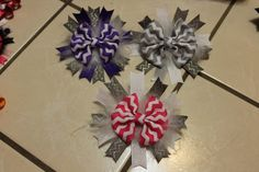 Chevron Boutique Basic Bow/Spikes Hairbows by mLyCreations on Etsy