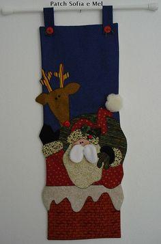 Panô Noel na chaminé