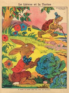 la fontaine  -  The Tortoise and the Hare