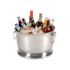 Beverage Ice Tub Party Stainless Steel Insulated Drinks Cooler Beer Bucket *NEW*