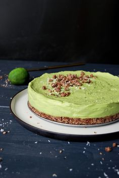 Hemsley + Hemsley's Raw Avocado Lime Cheesecake ° eat in my kitchen