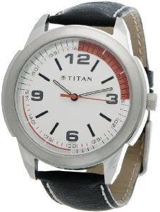 Titan Octane Analog White Dial Men Watch   NE1585SL01