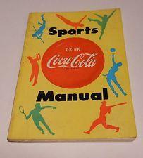 """Vintage Coca Cola 1955 """"Sports Manuel"""" Hand Book"""