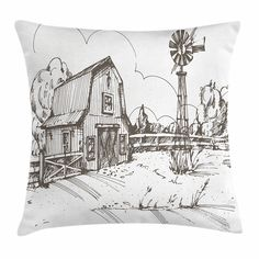 Seeking ROAM Decorative Accent Throw Pillow Covers 18 x 18 Inch 2 Covers with Zippers Black and White Nordic Print
