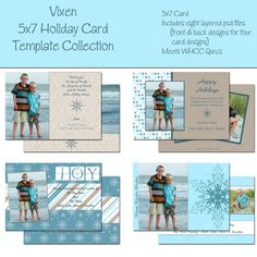 Holiday Card Template By Sarahldesign On Etsy  Britney