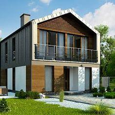 Z396 - dom z poddaszem użytkowym, dach dwuspadowy, pokój na parterze...