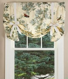 Aviary Lined Tie Up Valance   Country Curtains®