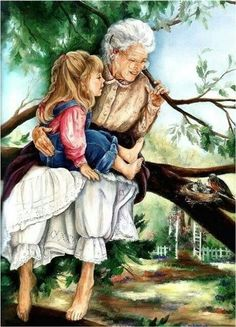 Safe In Grandma's Arms ~ Paula Vaughan