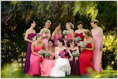Colorful wedding color palette ideas for bridesmaids dresses \\ Photo Credit: Sebastian Ho Photography #colorfulwedding #Bridesmaids #weddingphotoidea #babysbreath