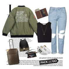 """Pack and go: Mexico City"" by vane-abreu ❤ liked on Polyvore featuring Chicnova Fashion, Topshop, Kain, Louis Vuitton, adidas Originals, MICHAEL Michael Kors and Royce Leather"