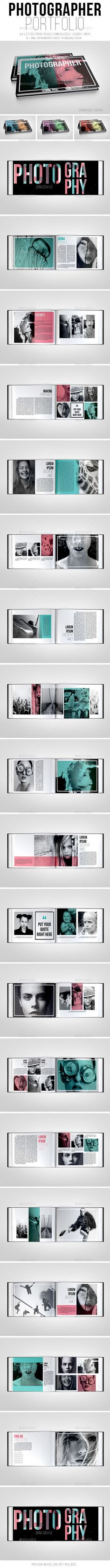 Photographer Portfolio Brochure Template. Download: http://graphicriver.net/item/photographer-portfolio-brochure/10404395?ref=ksioks