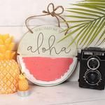 Lovely wooden watermelon plaque which reads: you had me at aloha. Part of our Tropical Summer range. Tropical Decor, Hanging Signs, Special Gifts, Watermelon, Island, Islands