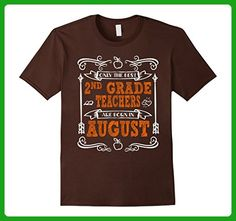 Mens Only The Best 2nd Grade Teachers Are Born In August XL Brown - Careers professions shirts (*Amazon Partner-Link)