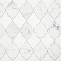 Coming Soon!!!    Delicate Gothic Design The Mystique collection, from Country Floors, draws upon history and tradition to project richness, opulence, and otherworldly elegance. The tiles in this collection, are reminiscent of a gothic Mediterranean designs. The Mystique Collection tiles ranges in shades of white, mute grey and silver, featuring different geometric patterns. The tiles are available in the standard eight by eight (8 x 8) size. Tile feature: Lena