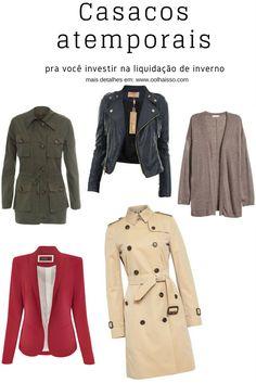 casacos atemporais e clássicos. casacos atemporais que toda mulher precisa ter. 5 modelos de casacos para inverno. trench coat, cardigan, jaqueta de couro, blazer, parka.