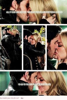 """I'd go to the end of the world for her""- CaptainSwan <3 <3"