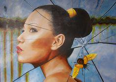 Title/Titel/Titel/Títolo Acrylic on canvas/ Akryl auf Leinwand/Akryl på lærred/Acrílica sobre tela Year/Jahr/År/Ano anders dyhr Printmaking, Saatchi Art, Art Prints, Canvas, Animals, Moth, Butterfly, Paintings, Tela