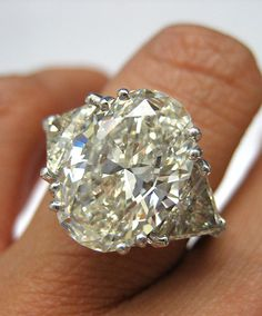 Estate Vintage 656Ct OVAL Diamond ENGAGEMENT by TreasurlybyDima, $85350.00  Absolutely stunning.......