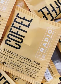 Steeped Coffee Bag: Hi/Fi blend — Radio Roasters Coffee Fresh Coffee, Blended Coffee, Drip Coffee, Coffee Branding, Coffee Packaging, Steeped Coffee, Coffee Drinkers, Roasters Coffee, Packaging