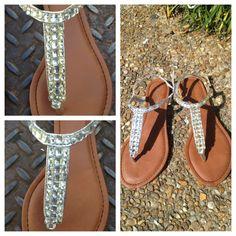 6eefc92cb Faux Diamond Sandals!!! 3 3