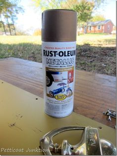 Spray Painting brass hardware, Petticoat Junktion