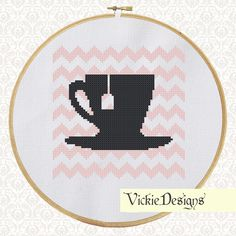 Chevron Cross Stitch Pattern Tea by VickieDesigns on Etsy, $3.00
