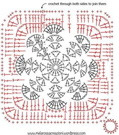 Here we have the unique tunisian crochet smock stitch which is a real beauty here. Crochet Potholder Patterns, Crochet Snowflake Pattern, Christmas Crochet Patterns, Crochet Dishcloths, Granny Square Crochet Pattern, Crochet Snowflakes, Crochet Diagram, Crochet Chart, Crochet Birds