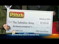 Pilot Flying J Presents $30,100 donation to The Salvation Army WVLT Loca...