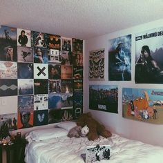 black, grunge, lp, posters, punk, rock, room, style, vinyl, vinyls, wall