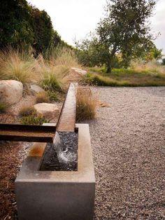 Garden Landscape Design, Landscape Architecture, Landscape Designs, Modern Landscaping, Backyard Landscaping, Fairytale Garden, Design Jardin, Water Features In The Garden, Garden Fountains