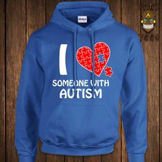 Funny Autism Awareness Hoodie Autistic Hooded Sweatshirt Support... ($35) ❤ liked on Polyvore