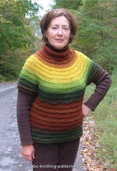 f53b2ef0ff051 ABC Knitting Patterns - Mountain Sunrise Short-Sleeved Sweater Beginner Knitting  Patterns