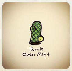 Turtle oven mitt