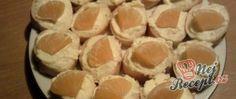 Recept Sýrovo česnekové jednohubky Catering Trays, Snack Recipes, Snacks, Muffin, Chips, Pie, Pudding, Breakfast, Food