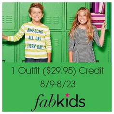 FabKids $29.95 Credit #Giveaway - CipBtRO.com I love this idea because kids can use this to express themselves instead of everyone else telling them what to what to wear. What a great way to boost their self-steem!