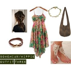 """""""bohemian/hippie outfit 3"""" by hippie-hannah on Polyvore"""