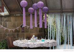 Our Birthday Mermaid Tea Party Purple Birthday, 5th Birthday, Little Mermaid Parties, The Little Mermaid, Australian Gifts, Octopus, Tea Party, Lanterns, Bond