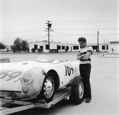 james dean a 550 spyder in white so not his little