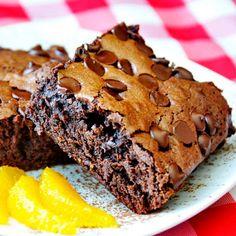 Chocolate Orange Brownies.
