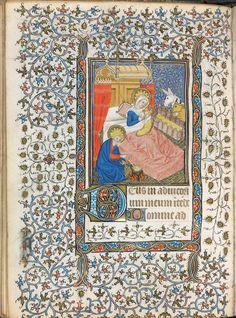"""""""La Nativité"""", extrait du Livre d'Heures à l'usage de Troyes, enluminé par le Maître des Heures de Troyes (1460)"""