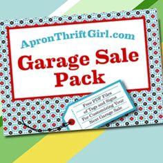 More Free Printables - Garage Sale Signs Yard Sale Signs, Garage Sale Signs, For Sale Sign, Garage Sale Organization, Organizing, Garage Sale Advertising, Next Sale, Diy Garage, Diy Signs