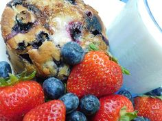 """These big, tender bakery-style muffins that are studded with juicy blueberries are the winner of """"The Battle of the Blueberry Muffins."""" And, we love having some fresh fruit, a cup of Crave Blueberry Vanilla Flavored #Coffee, and a glass of milk with them! […] The post We're Enjoying Boston's Best Blueberry Muffins With Crave Coffee! appeared first on Sweet Southern Savings. #CraveCoffee #ILoveBaking #Recipes #Baking #Copycat Best Blueberry Muffins, Blue Berry Muffins, Butter Toffee, Famous Recipe, Types Of Cakes, French Vanilla, Muffin Recipes, Copycat"""