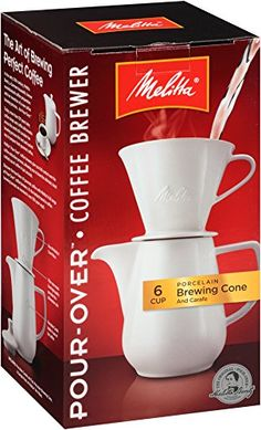 Melitta Coffee Maker, Porcelain 6 Cup Pour- Over Brewer * Hurry! Check out this great item : Coffee Maker