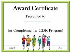Certificate of participation marbled paper pinterest running certificate templates free customizable to award athletes for participating in race events or for those training for races yelopaper Choice Image