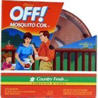 S C Johnson Wax Off Tc Mosquito Coil 51806 Insect Repellent by SC Johnson. $6.99. It is decorative terra cotta coil holder with lid.. Off Mosquito Coil provides continuous protection against outdoor flying insects.. Off! Mosquito Coil, Decorative Terra Cotta Coil Holder With Lid, Protects Children & Pets From Smoldering Coil, Country Fresh Scent, Includes 4 Coils, Individually Packaged.. Save 30% Off!