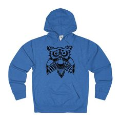 """Alex Lanu """"Wise Owl"""" Adult Unisex French Terry Hoodie"""