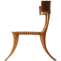 View this item and discover similar for sale at - Fascinated and inspired by the Classical furniture of Greece, T. Robsjohn-Gibbings based the design for this beautiful Klismos chair on his study of Cool Chairs, Side Chairs, Lounge Chairs, Side Tables, Unique Furniture, Furniture Design, Plywood Furniture, Chair Design, Adirondack Chairs For Sale
