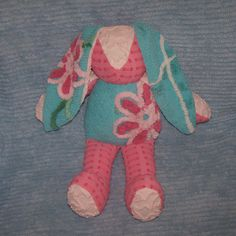 Lana the Vintage Floral Chenille Bunny in by ChenilleTreasures, $32.50